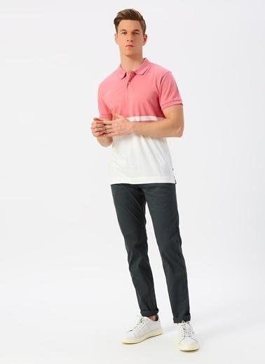 Dockers Dockers Pembe Beyaz Polo Yaka T-Shirt Kırmızı